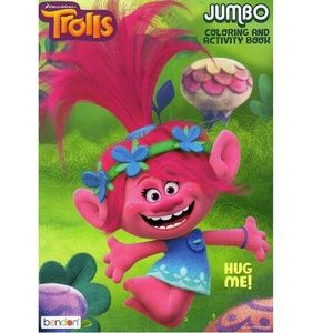 Trolls Jumbo 96 Pg. Coloring And Activity Book